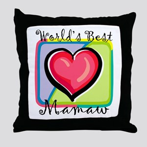 World's Best Mamaw Throw Pillow