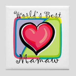 World's Best Mamaw Tile Coaster