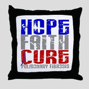 Pulmonary Fibrosis Hope Faith Cure Throw Pillow