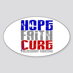 Pulmonary Fibrosis Hope Faith Cure Sticker (Oval)