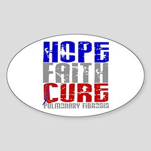 Pulmonary Fibrosis Hope Faith Cure Sticker (Oval)