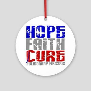Pulmonary Fibrosis Hope Faith Cur Ornament (Round)