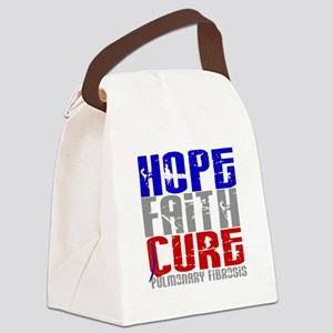 Pulmonary Fibrosis Hope Faith Cur Canvas Lunch Bag