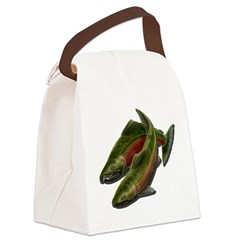 Save Our Salmon Canvas Lunch Bag