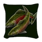 Save Our Salmon Woven Throw Pillow
