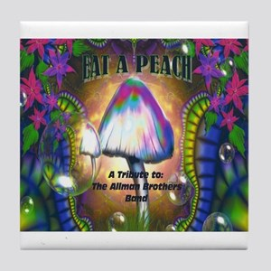 Eat a Peach band logo Tile Coaster
