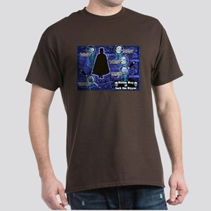 Jack the Ripper Victim Map Blue Dark T-Shirt
