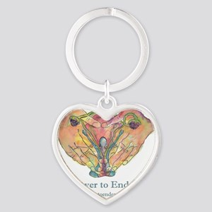 Empower to End Endo Heart Keychain