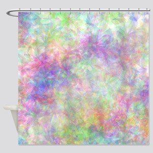 Pretty Pastel Floral Shower Curtain