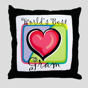 World's Best Gram Throw Pillow