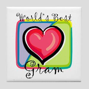 World's Best Gram Tile Coaster