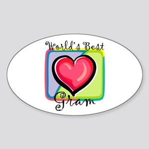 World's Best Gram Oval Sticker