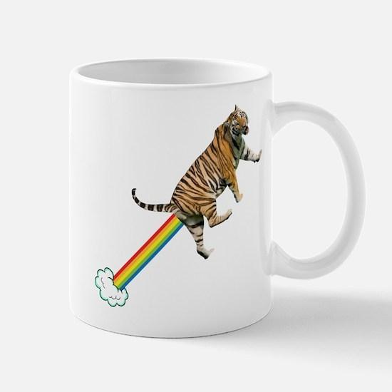 Flying Tiger Farts Rainbows Mugs