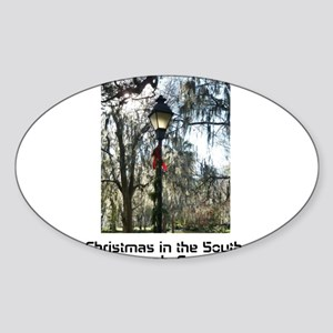Savannah Christmas Sticker (Oval)