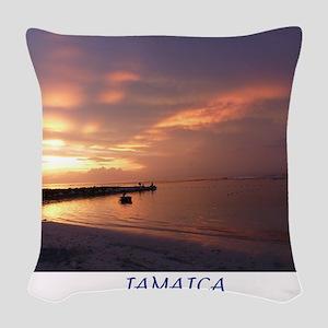 Jamaica Sunset Woven Throw Pillow