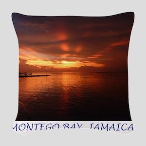 Montego Bay Sunset Woven Throw Pillow