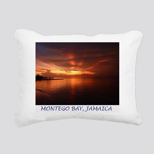 Montego Bay Sunset Rectangular Canvas Pillow
