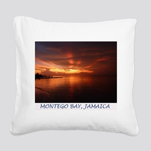 Montego Bay Sunset Square Canvas Pillow