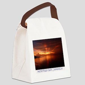 Montego Bay Sunset Canvas Lunch Bag