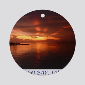 Montego Bay Sunset Ornament (Round)