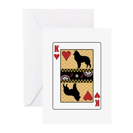 King Sheepdog Greeting Cards (Pk of 10)
