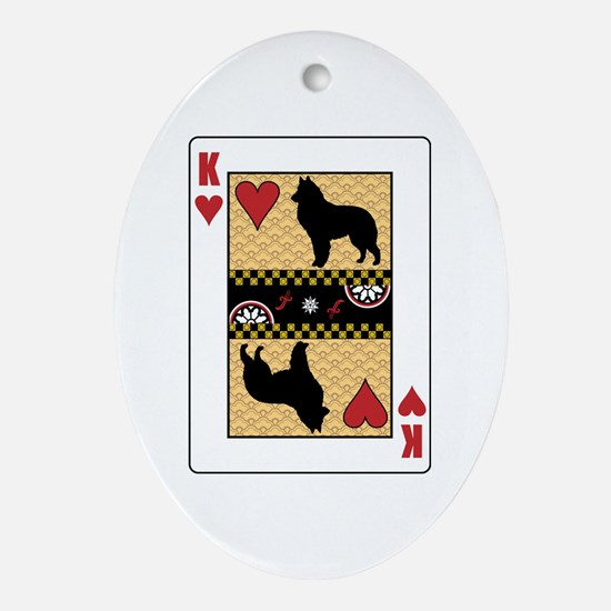 King Sheepdog Oval Ornament