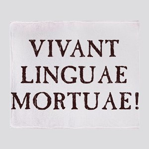 Long Live Dead Languages - Latin Throw Blanket