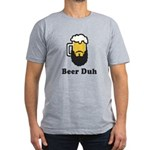 Beer Duh Men's Fitted T-Shirt (dark)