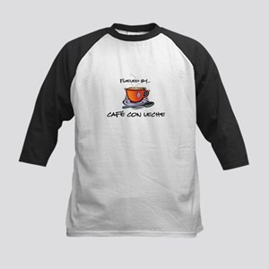 Fueled by Cafe con Leche Kids Baseball Jersey