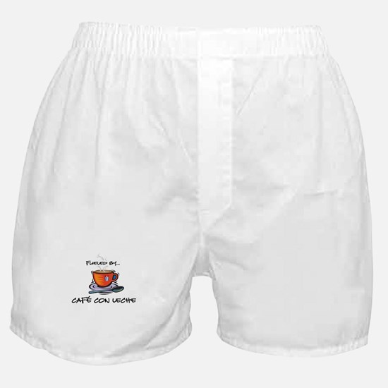 Fueled by Cafe con Leche Boxer Shorts