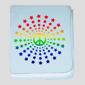 Peace Burst baby blanket