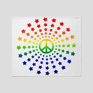 Peace Burst Throw Blanket