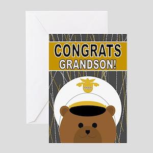 Congrats U. S. Army Cadet Grandson Greeting Cards