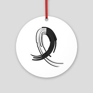 Carcinoid Cancer Graffiti Ribbon Ornament (Round)