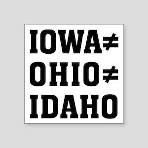 """Iowa Ohio Square Sticker 3"""" x 3"""""""