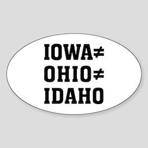 Iowa Ohio Sticker (Oval)
