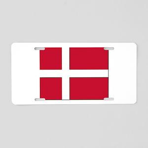Flag of Denmark - NO Text Aluminum License Plate