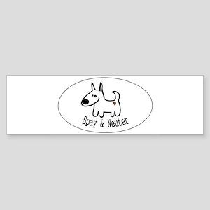 sticker spay and neuter dogheart Bumper Sticker