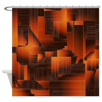 Autum Abstract Shower Curtain