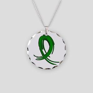 Neurofibromatosis Graffiti R Necklace Circle Charm