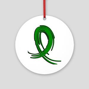 Spinal Cord Injury Graffiti Ribbo Ornament (Round)