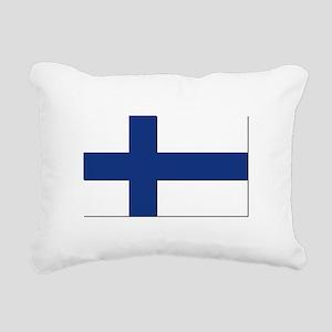 Flag of Finland - NO Tex Rectangular Canvas Pillow
