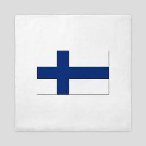 Flag of Finland - NO Text Queen Duvet