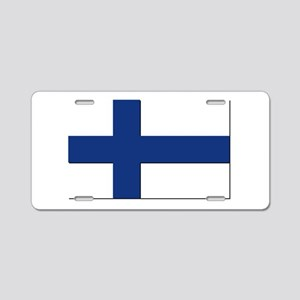 Flag of Finland - NO Text Aluminum License Plate