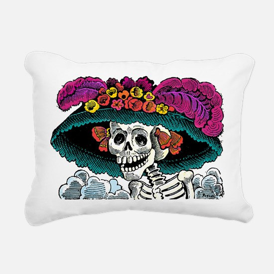 La Catrina Rectangular Canvas Pillow