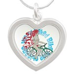 AD Silver Heart Necklace