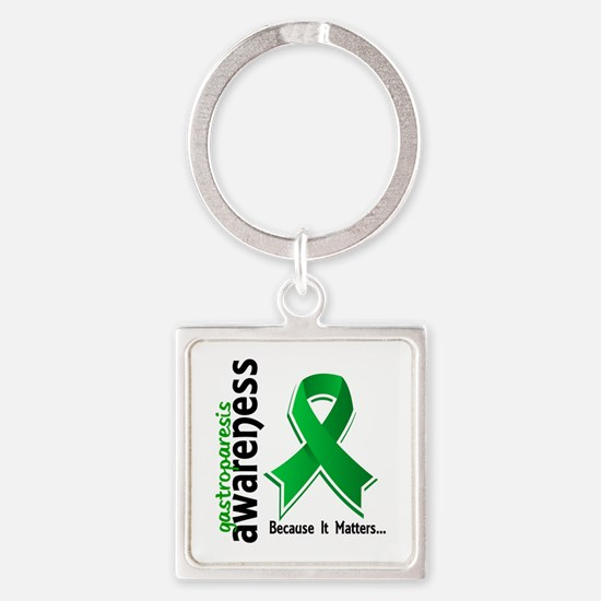 Gastroparesis Awareness 1 Square Keychain