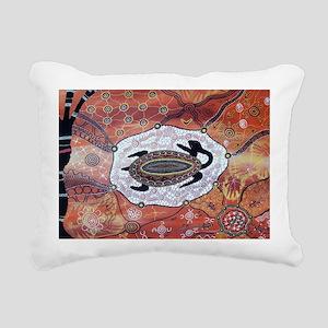 Turtle Dreaming Rectangular Canvas Pillow