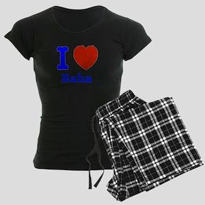 I love Baha Women's Dark Pajamas