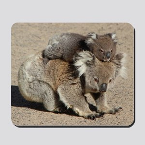 Baby Joey Koala Piggyback Ride Mousepad